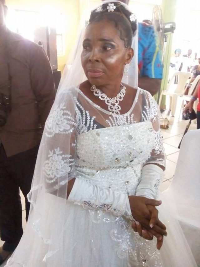 50 year old woman weds for the first time in port harcourt for Wedding dress for 50 year old bride