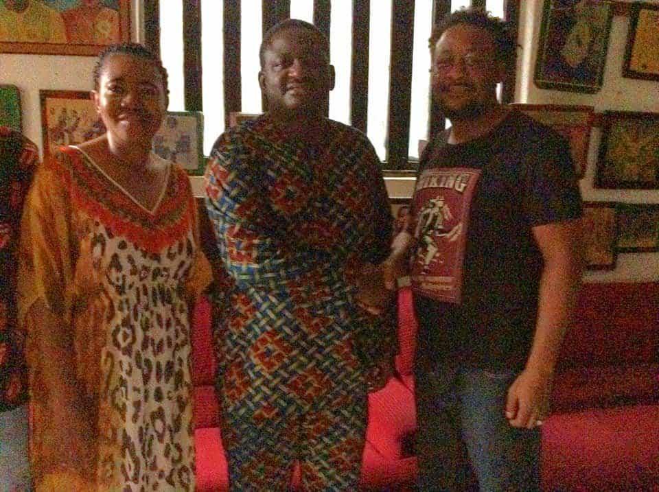 Photo of Femi Adesina pays courtesy visit to family of late music legend, Sunny Okosun (Photos)