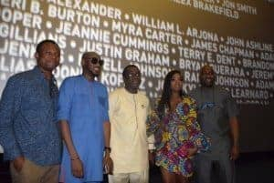 Photo of Nigerian celebrities storm movie premier of Black Panther in Nigeria | Olu Jacobs reviews the movie (Photos)