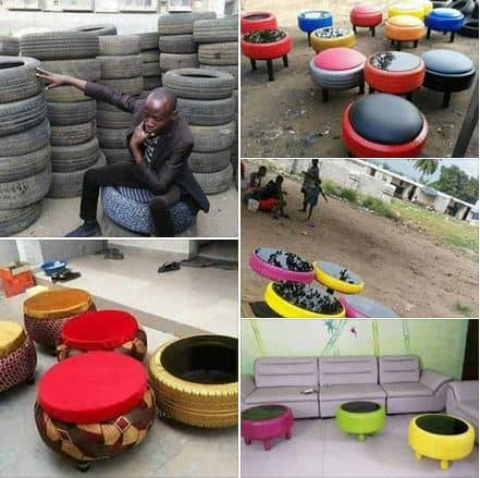Photo of See how a man transformed used tyres into furniture (Photos)