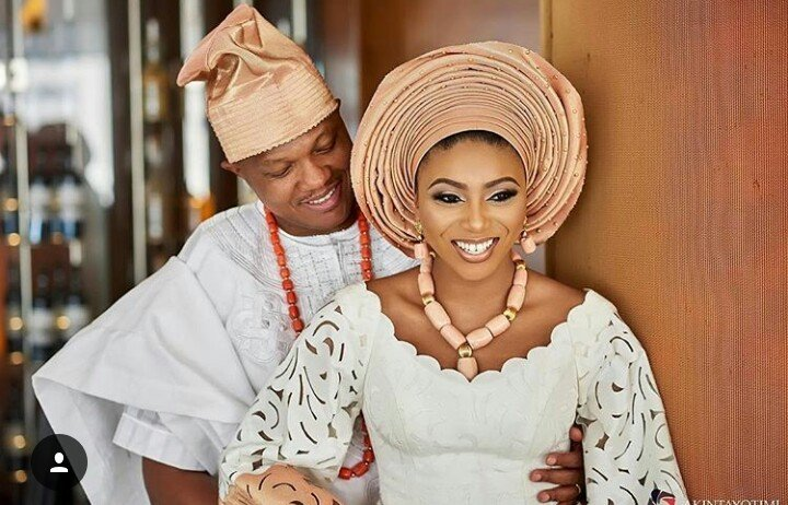 Photo of Stephanie Coker's husband, Olumide Aderinokun reacts to infedelity allegations