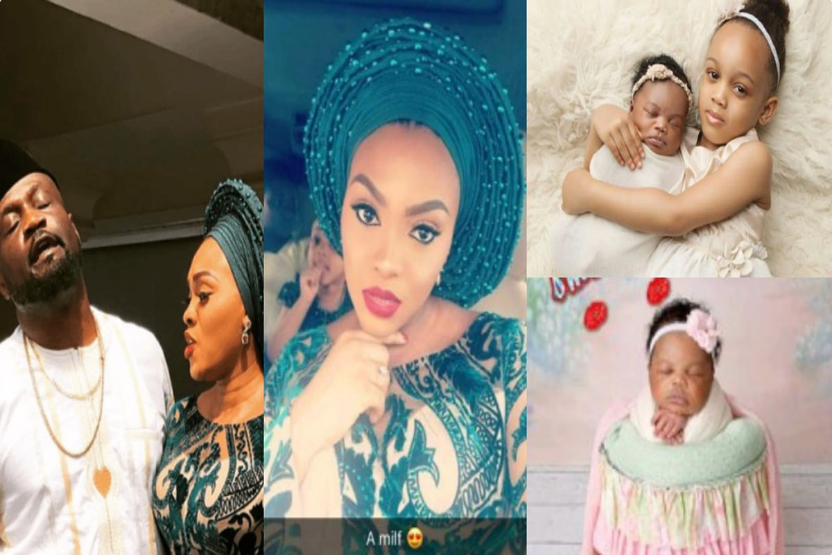 Jude Okoye and wife take their second daughter to church