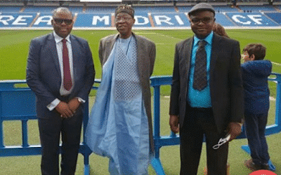 Photo of This Lai Mohammed's 'Blazer on Agbada' outfit during an international visit has got Nigerians talking (Photos)