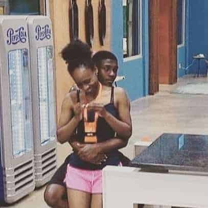 Video: BBNaija housemate, Lolu quickly covers his erection after Anto stands up from his lap