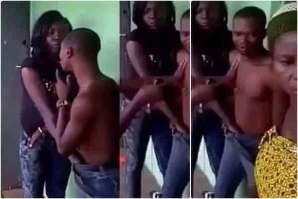 Photo of Drama as Husband finds Nursing wife in bed with another man in Delta