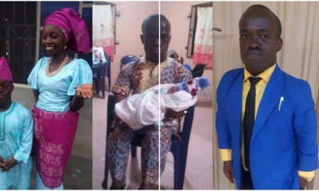 RCCG Pastor with dwarfism and his wife welcome their first child