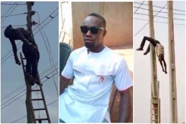 Photo of Sacked PHCN staff electrocuted while doing illegal connection