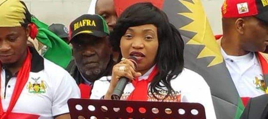 Photo of Nnamdi Kanu's wife speaks on husband's whereabouts