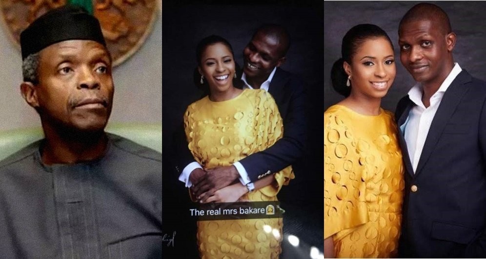 Photo of Vice President, Yemi Osinbajo confirms his daughter's marriage to Hajia Bola's son (Photos)