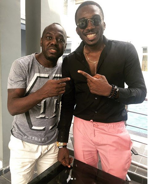 Photo of Comedian Bovi pictured with a healthy looking Wilson Oruma