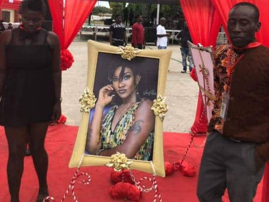 Photo of Pictures from memorial held for Ebony Reigns, to be buried on March 17