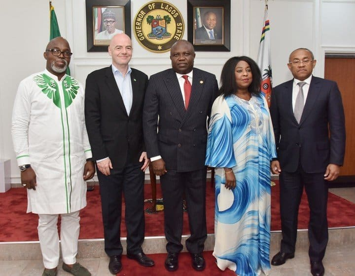 Photo of FIFA President, Gianni Infantino Visits Governor Ambode (pictures)