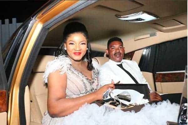 Photo of Omotola celebrates 40th birthday in gold Rolls Royce phantom