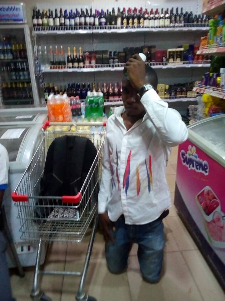 Photo of Young Man Caught Stealing Perfume At A Supermarket To Give To His Girlfriend