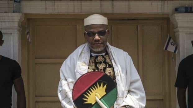 Photo of Nnamdi Kanu And His Wife Spotted In Ghana