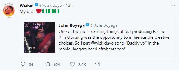 John Boyega features Wizkid