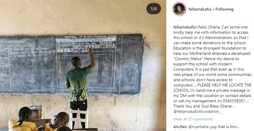 Ghanaian school Fella Makafui