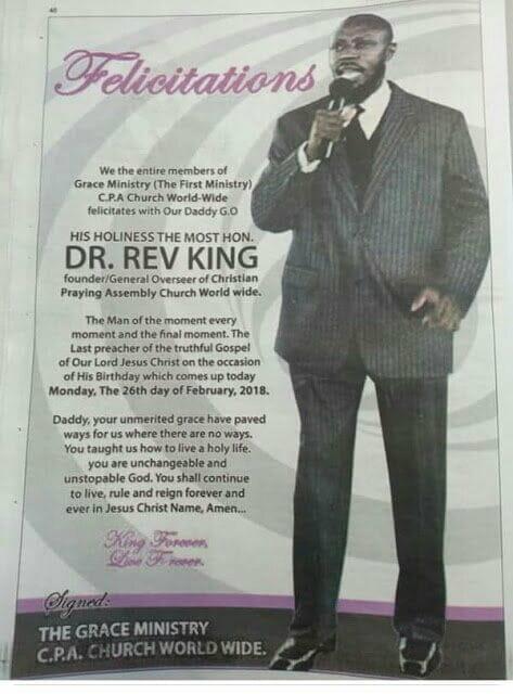 Revered King's Church members