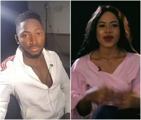 Photo of BBNaija 2018: Nina apologizes to her boyfriend for making out with Miracle in the shower