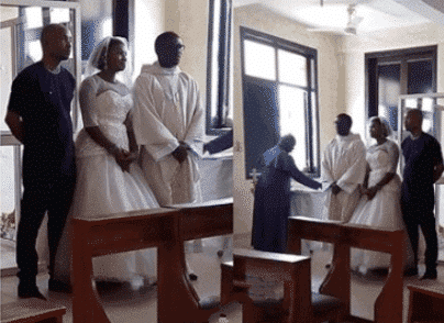 Photo of Nigerian man wears native to his white wedding in Abuja (Photos)