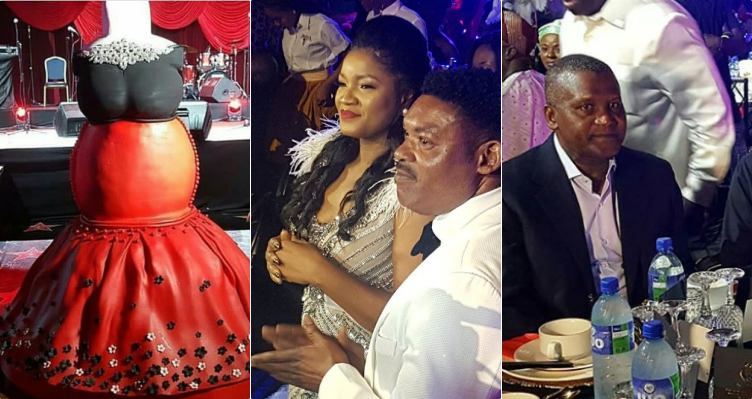 Photo of Nigerian celebrities & billionaire Dangote storm Omotola Jalade's 40th grand birthday party (Photos)