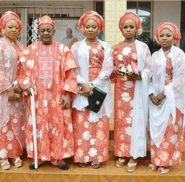 Alaafin of Oyo twins with young wife, Memunat