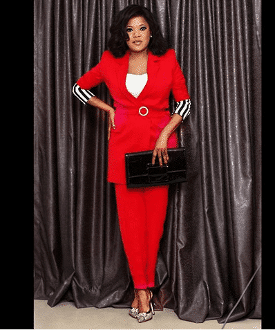 Photo of Toyin Abraham shows off all the several cakes she got for her birthday