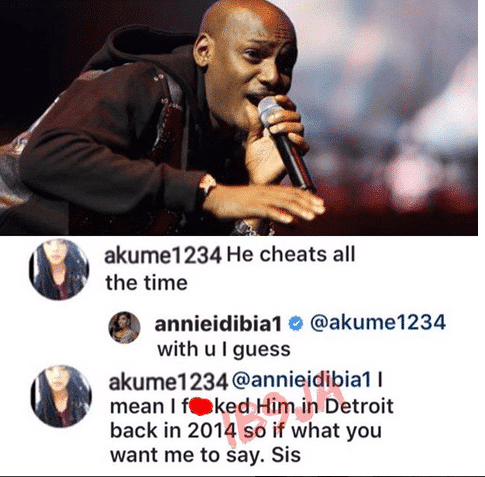 2face Idibia in cheating scandal
