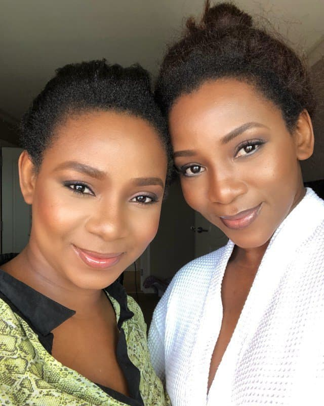 Photo of Genevieve Nnaji shows off siblings in new photos
