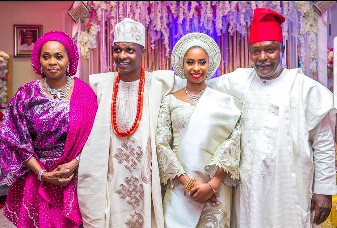 Photo of How Bola Shagaya reunited with first husband at Son's wedding (photos)