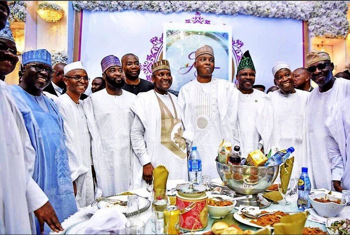 Photo of Kano shuts down as Buhari, Saraki, Sanusi, other dignitaries attend Dangote-Abubakar celebrity wedding (photos)