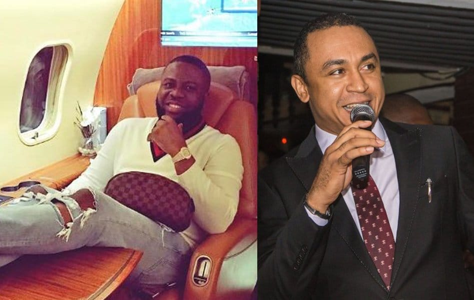 Photo of Hushpuppi reacts as Daddy Freeze calls out entertainers who wear fake watches