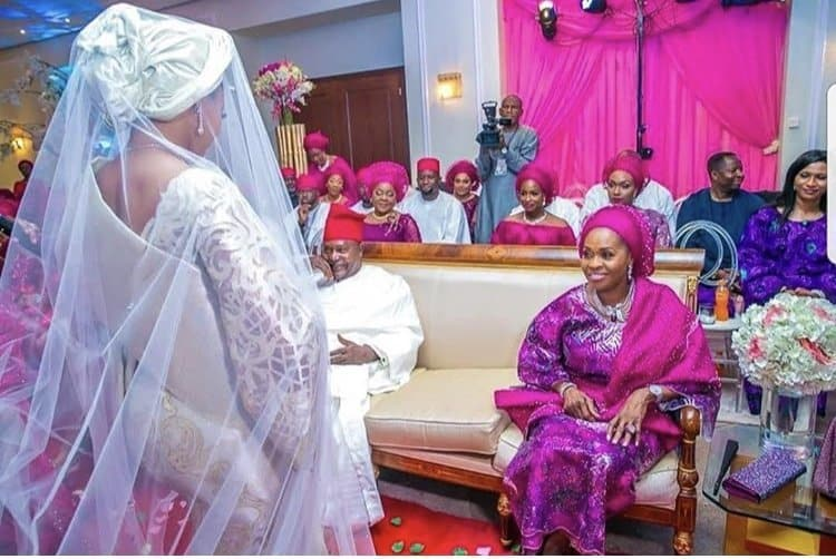 Photo of More photos as Prof Osinbajo traditionally gives out daughter to Bola Shagaya's son