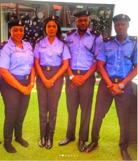 Photo of Checkout how these Nigerian celebrities look in Police uniform (Photos)