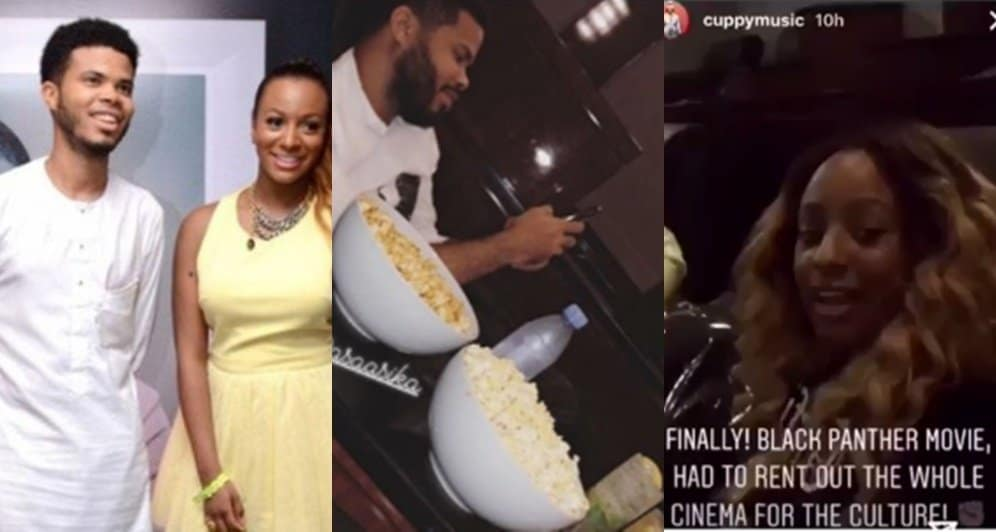 Photo of Dj Cuppy & Asa Asika rent out a whole cinema in Dubai to see black panther