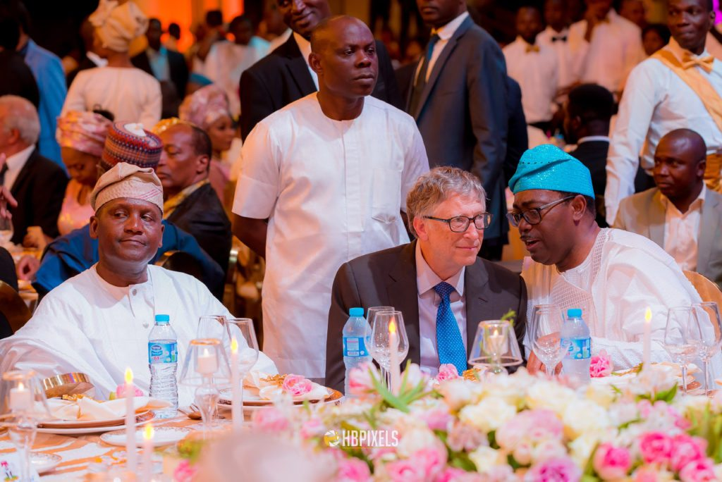 Photo of Bill Gates attends Aliko Dangote's daughter's final wedding dinner in Lagos (Exclusive photos)