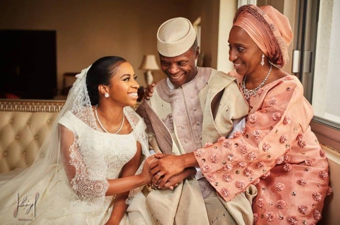 Photo of How Osinbajo barred guests from taking photos at daughter's wedding