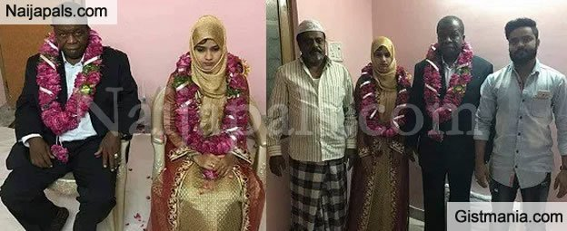 Photo of 60yr-old Nigerian Man Marries A 15yr-old Indian Girl