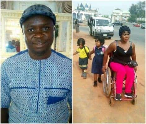 Photo of Nigerian man narrates his encounter with a physically challenged mother of 3