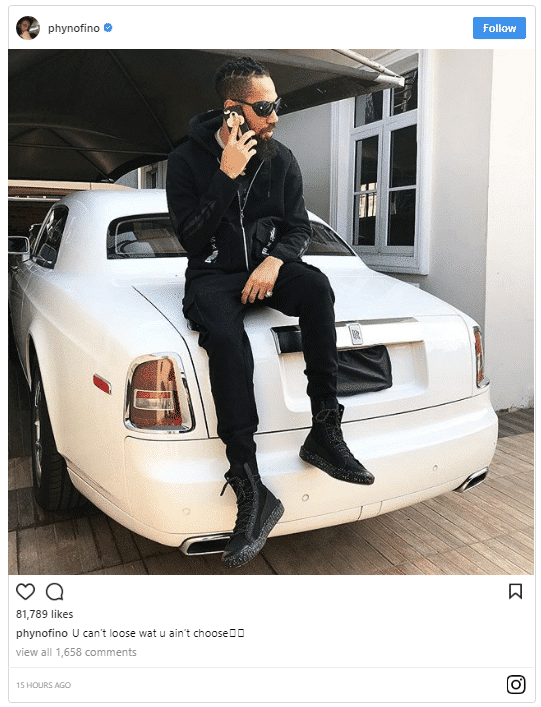 Photo of New Whip: Phyno Acquires New Rolls Royce Phantom