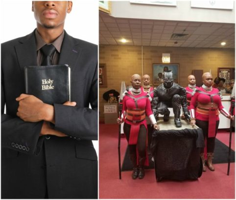 Photo of Pastor and choristers storm church in Black Panther outfits (photos, reactions)