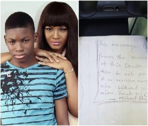 Photo of See the surprising message Omotola Jalade's son wrote to her on Mother's Day