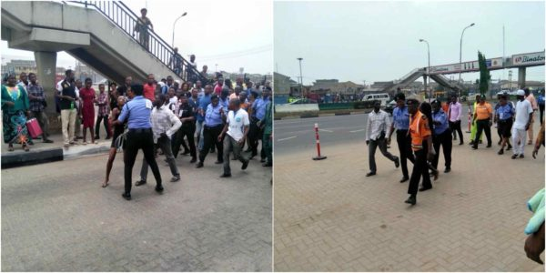 Photo of This lady was arrested while using a bridge shut down because of Buhari in Lagos