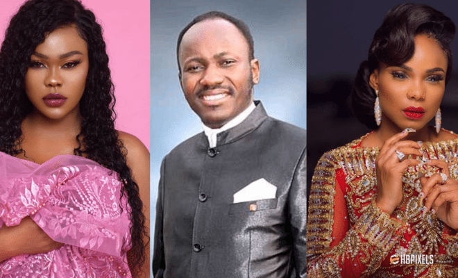 Again! Actress Cossy Orjiakor calls out Apostle Suleman, for sleeping with Daniella Okeke and Iyabo Ojo