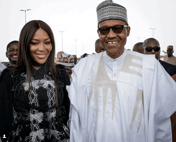 Photo of President Buhari pictured with Naomi Campbell at Eko Atlantic City