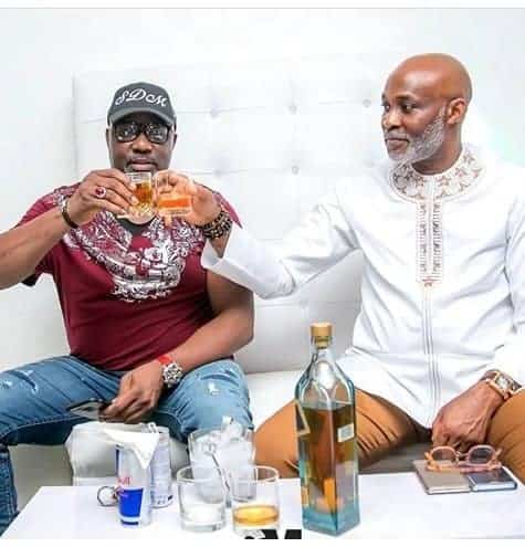 Photo of Senator Dino Melaye pictured having fun with RMD and AY comedian