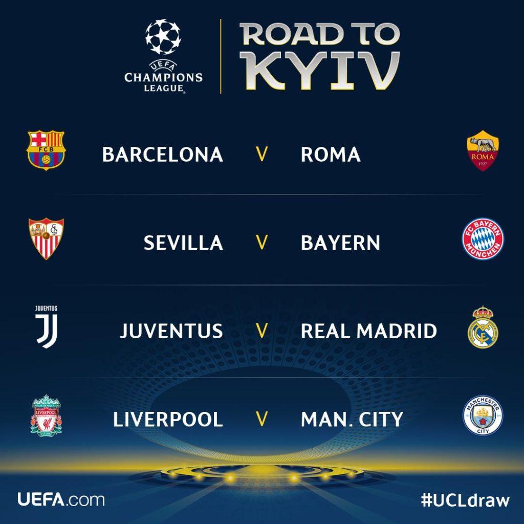 quarter finals draw