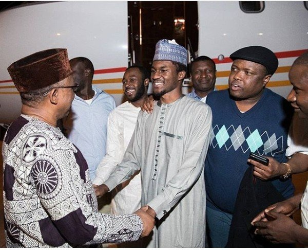 Photo of Yusuf Buhari returns from medical trip abroad, re-unites with family (photos)