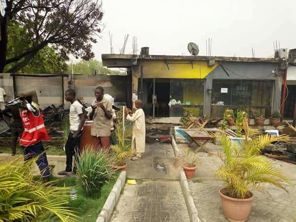 Photo of Popular eatery, Babz Lounge gutted by fire (photos)