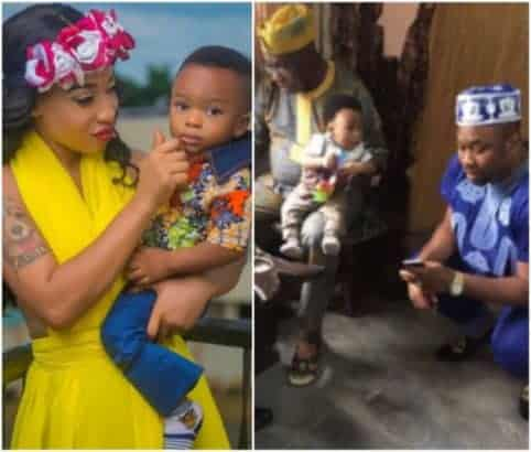Photo of Tonto Dikeh wishes death on a fan who criticized her for dissociating her son from Obasanjo